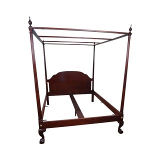 Baker Historic Charleston Queen Mahogany Claw Foot Poster Canopy Bed