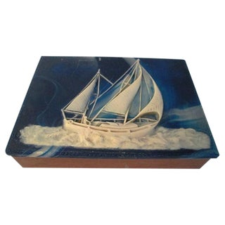 Navy & White Sailing Sea Valet Box