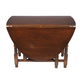 English William and Mary Gate Leg Drop-Leaf Table