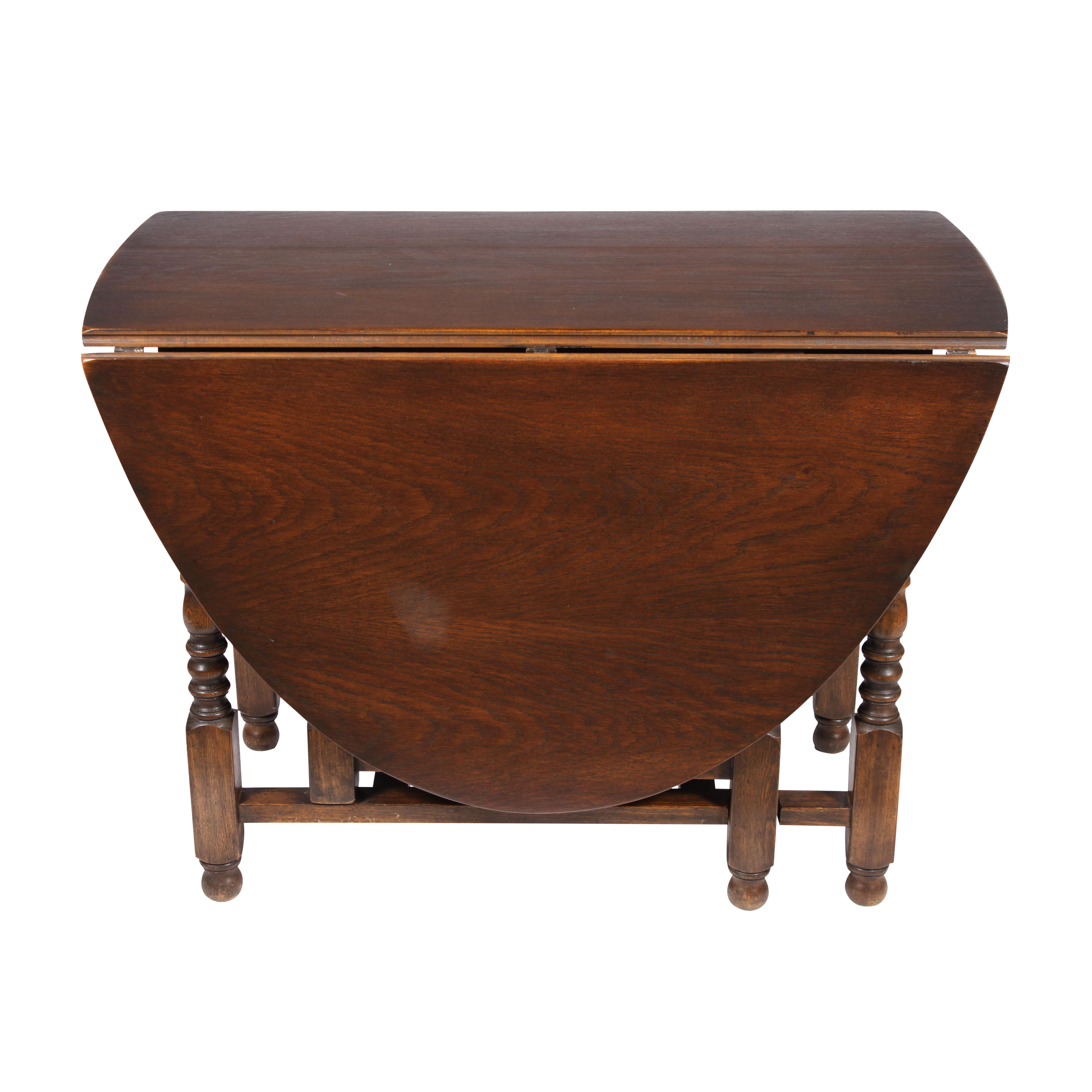 English William And Mary Gate Leg Drop Leaf Table