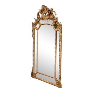 Mid-19th Century French Louis XV Carved Goldleaf Mirror