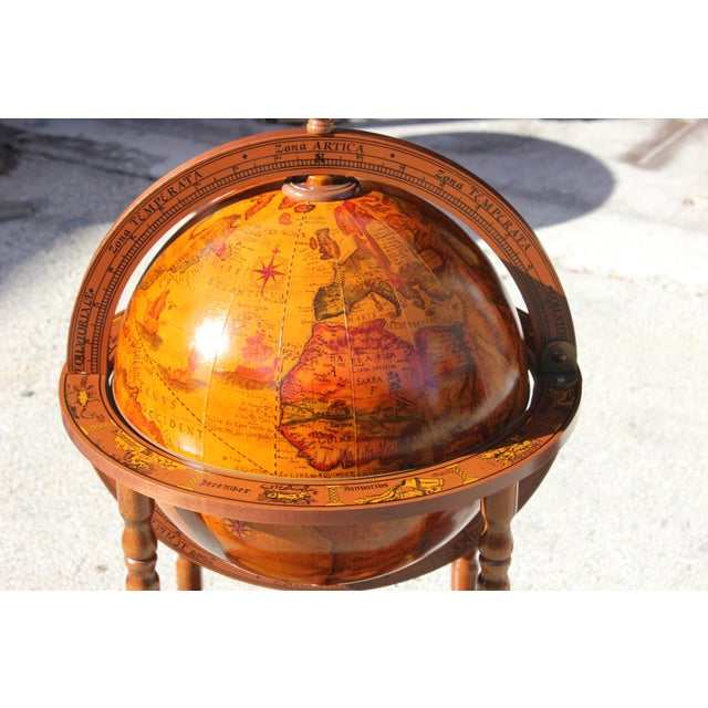 1950s French Art Deco Style Globe Bar - Image 9 of 11