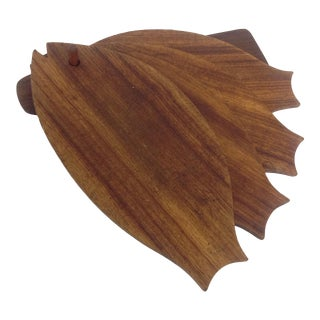 Danish Modern Teak Fish-Shaped Trays - Set of 5