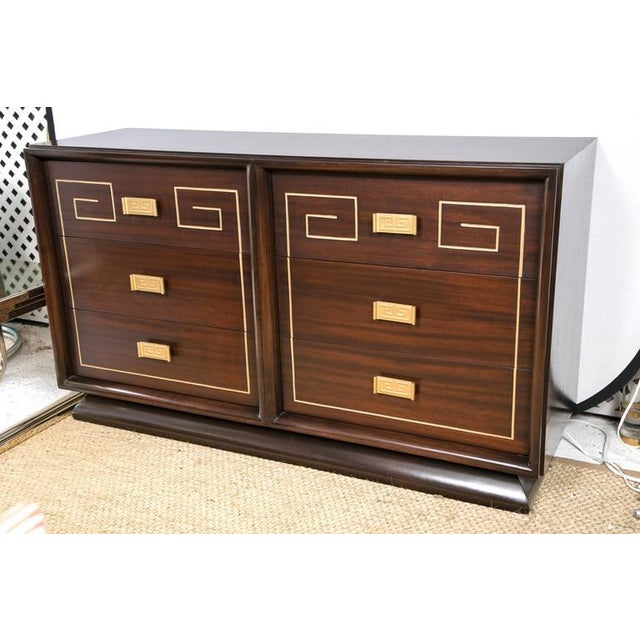Image of Mid-Century Sideboard with Gold Detail Attributed to Tommi Parzinger