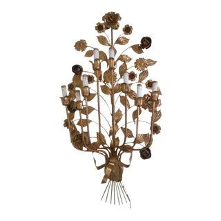 Italian Gilt Wall Sconce Lamp Sculpture