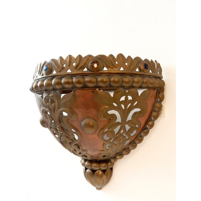 Moroccan Brass Wall Sconce Chairish