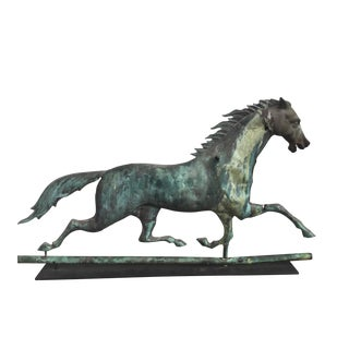 J.W. Fiske Flying Cloud Running Horse Weathervane