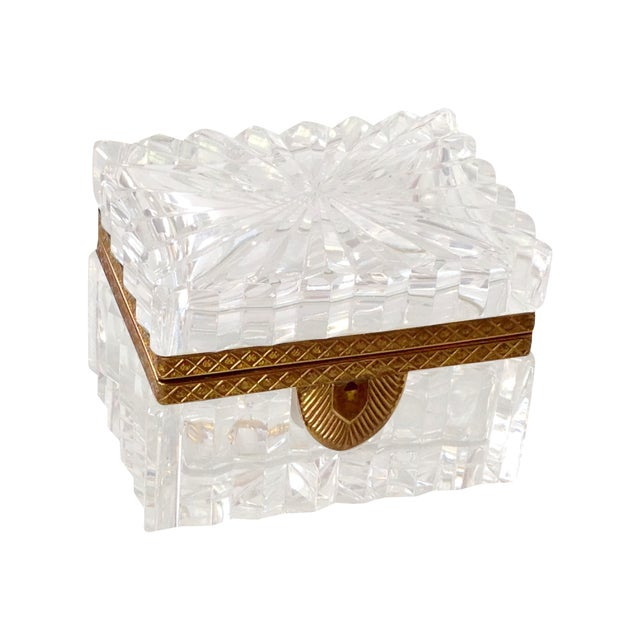 French Cut Crystal Banded Jewelry Box - Image 1 of 4