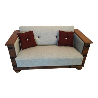 Newly Upholstered Re-Purposed Trunk Loveseat