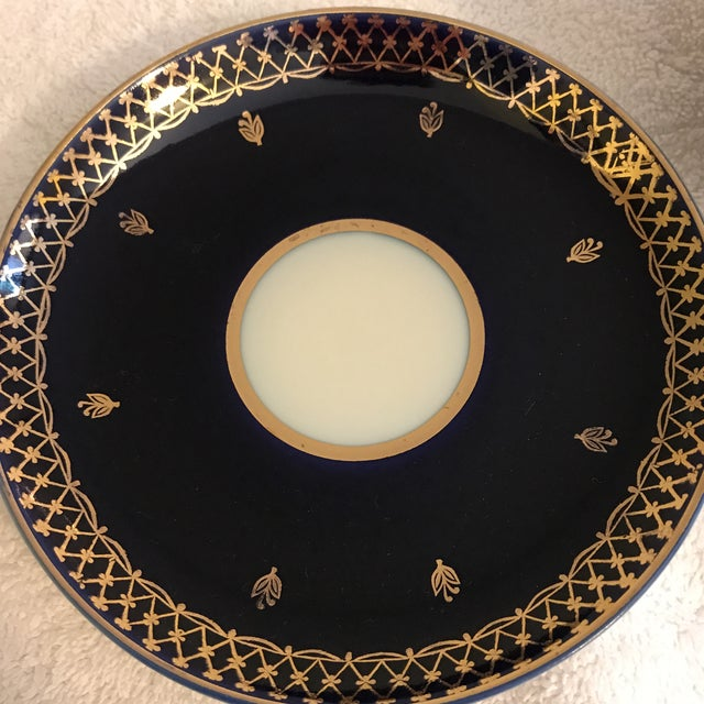 Vintage Russian Lomonosov Cobalt Blue & Gold Tea Cup - Image 5 of 10