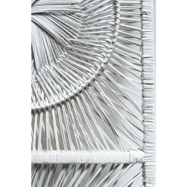 Image of Boho Chic White Wicker Wall Decor