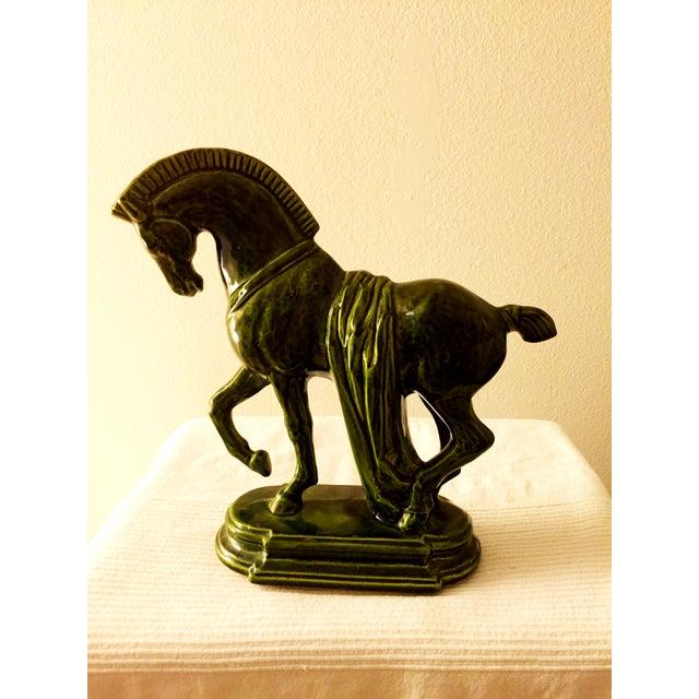 Large Green Porcelain Trojan Horse Figurine - Image 3 of 5