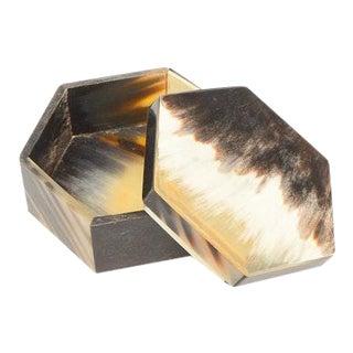 Octagonal Horn Trinket Box