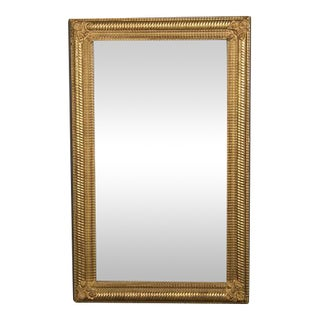 Belle Epoque Period Gold Leaf Framed Mirror, France c.1895 (34 1/2″w x 55 1/2″h)