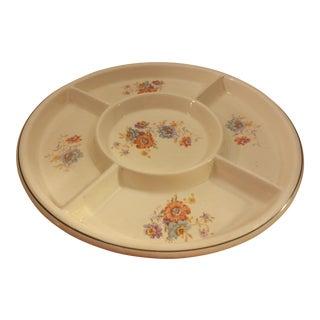 Porcelain Floral Designed Divided Tray