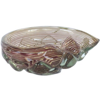 Purple Swirl Murano Glass Bowl
