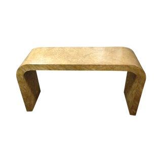 Karl Springer Style Oil Drop Finish Table