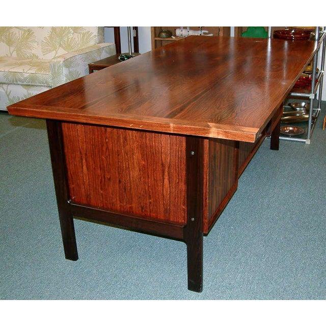 Arne Vodder Rosewood Executive Desk - Image 7 of 10