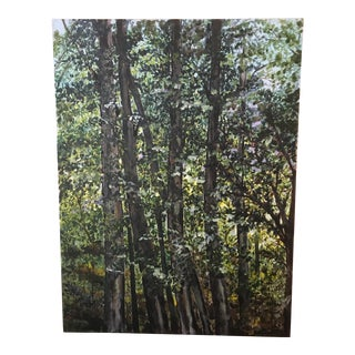 'Summer' Forest Acrylic Painting