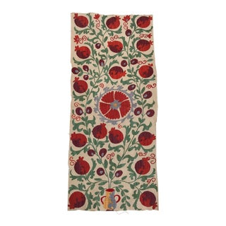 Colorful Pomegranate Handmaid Embroidered Suzani Textile
