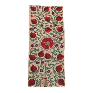 Colorful Pomegranate Handmaid Embroidered Suzani Textile