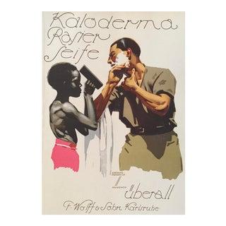 1927 German Art Deco Fashion Poster, Kaloderma Rasier Seife