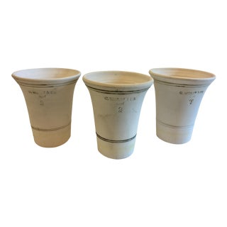 Set of 3 Wolff Creamy White Garden Pots