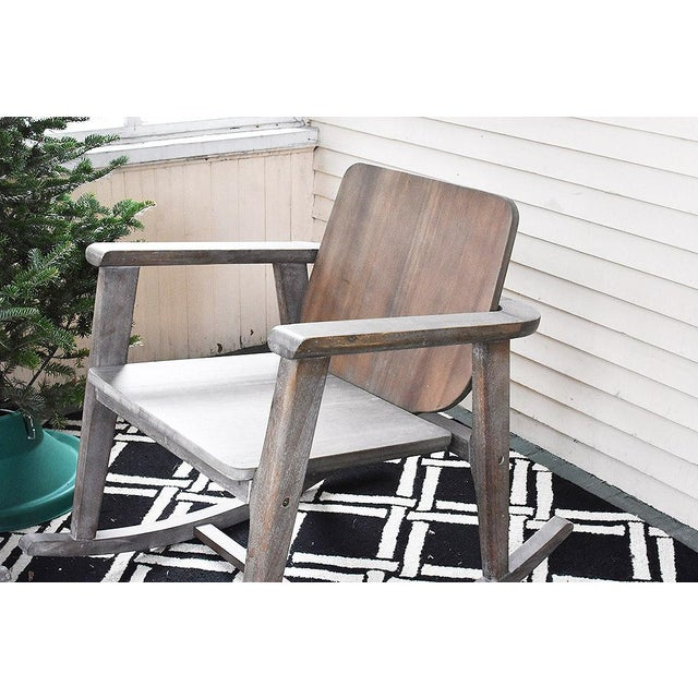 Modern Gray Wooden Rocking Chair - Image 4 of 10