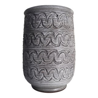 Design Technics Incised Pottery Vase