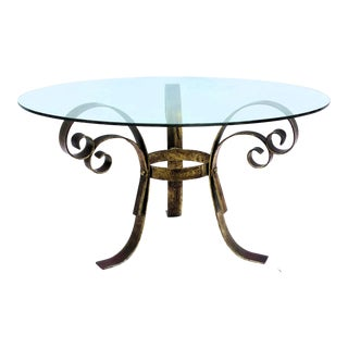 1960's Wrought Iron Coffee Table