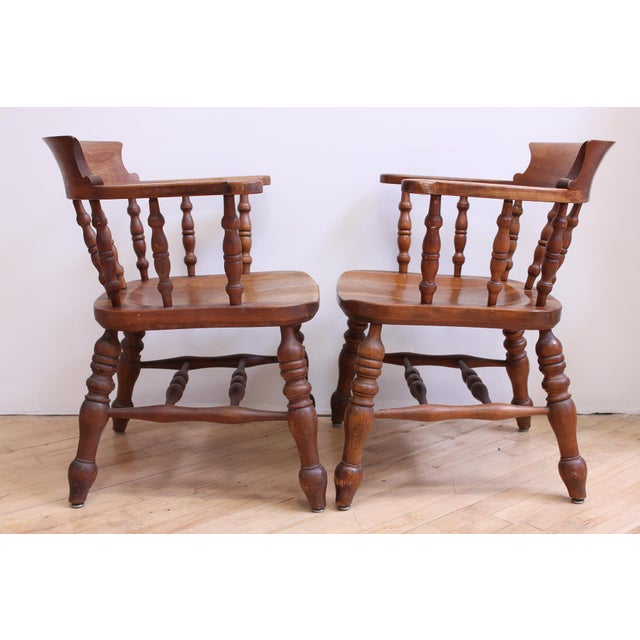 L & JG Stickley Colonial Cherry Valley Captain's Chairs - A Pair - Image 3 of 7