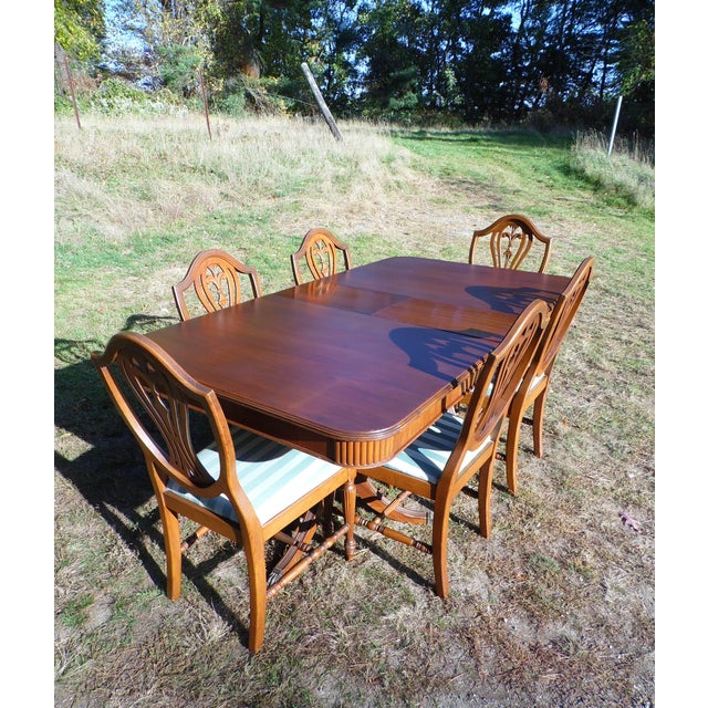 Thomasville Hepplewhite Duncan Phyfe Mahogany Dining Set