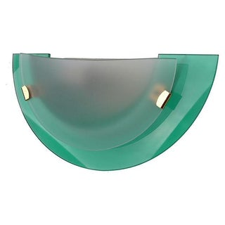 Italian Frosted Glass Semi-Circle Sconce