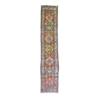 Antique Persian Long Heriz Runner, 2'11'' x 15'3''
