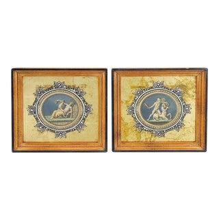 Medallion Raphael Etchings - A Pair