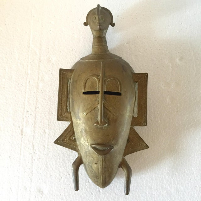 African Brass Mask - Image 2 of 6