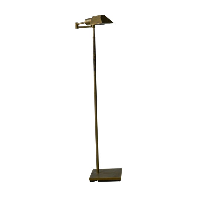 Adjustable Brass Floor Lamp - Image 1 of 4