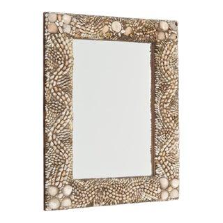 Antique Rectangular Shell Encrusted Mirror