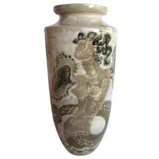 Vintage Rene Buthaud French Ceramic Glazed Vase