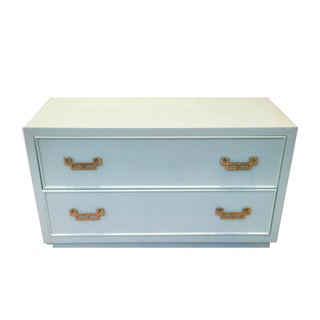Century Seafoam Hollywood Regency Chest of Drawers