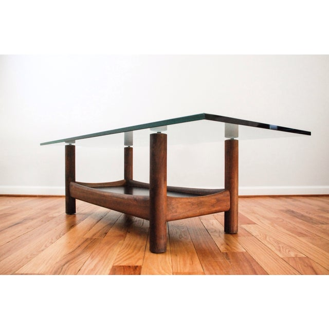 Mid-Century Teak and Glass Coffee Table - Image 6 of 6
