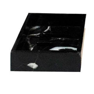 Black and White Agate Soap Dish