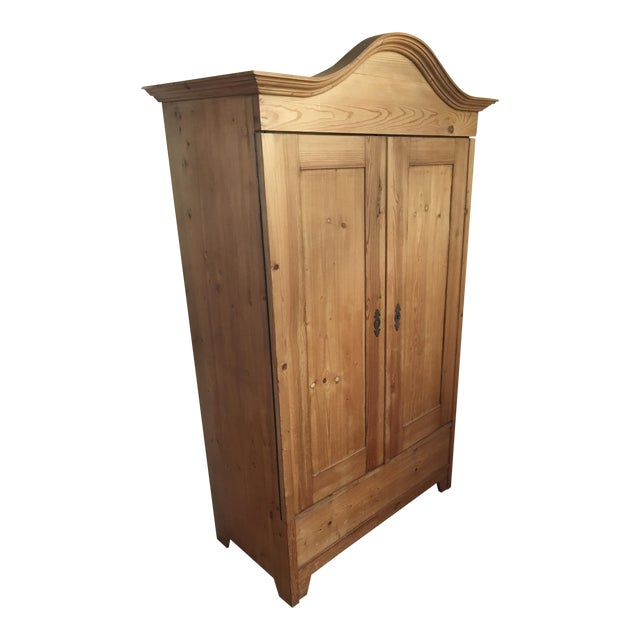 Antique Traditional Pine Armoire - Image 1 of 8