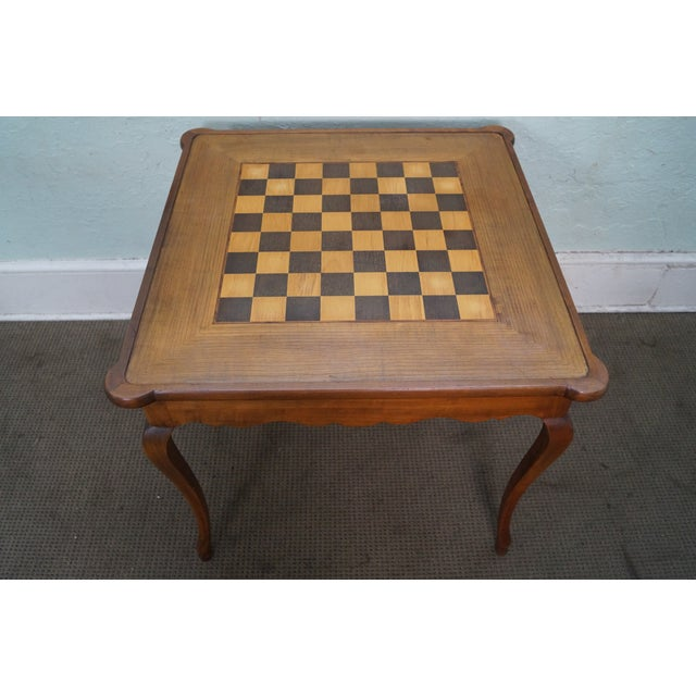 Vintage Italian Walnut Chess Board With Reversible Top
