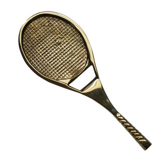 Solid Brass Tennis Racket Bottle Opener