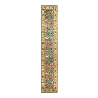 """Eclectic Hand Knotted Runner Rug - 2' 8"""" X 13' 10"""""""