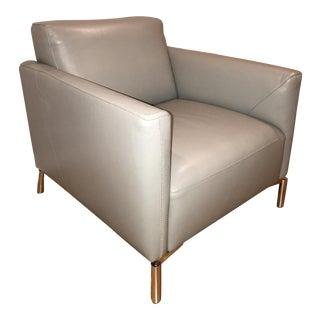Natuzzi Gray Arm Chair