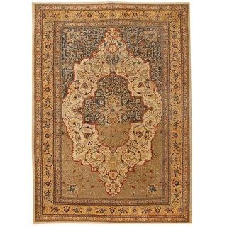 Exceptional Antique Persian Hadji Jalili Tabriz Carpet