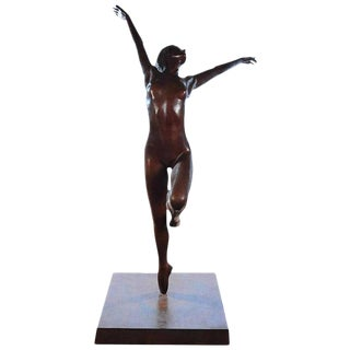Monumental Bronze Sculpture of a Dancer