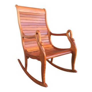 Solid Cherry Wood Rocking Chair
